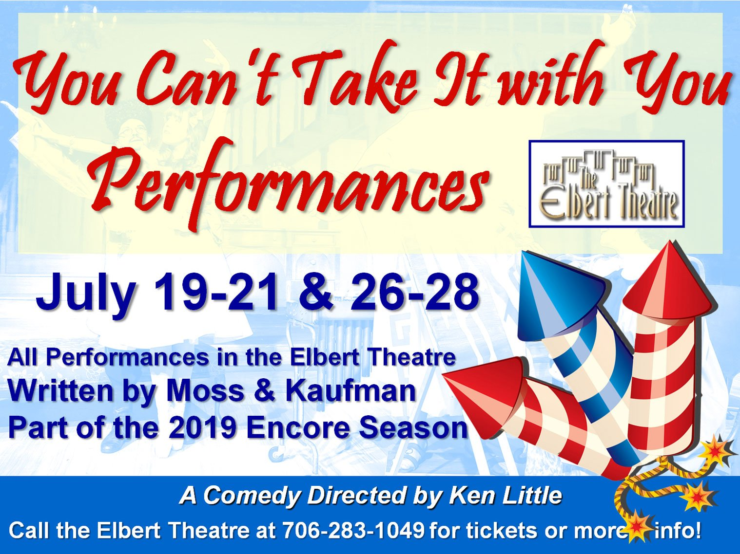 You Can't Take It With You Performances Advertisement
