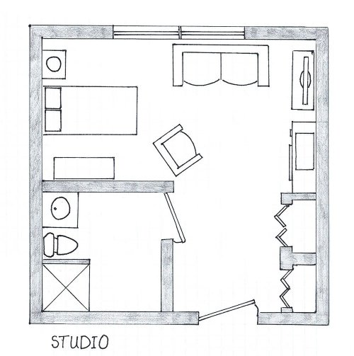 Floorplan of Studio Assisted Living
