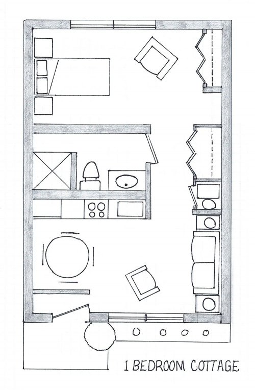 Cottage room floor layout