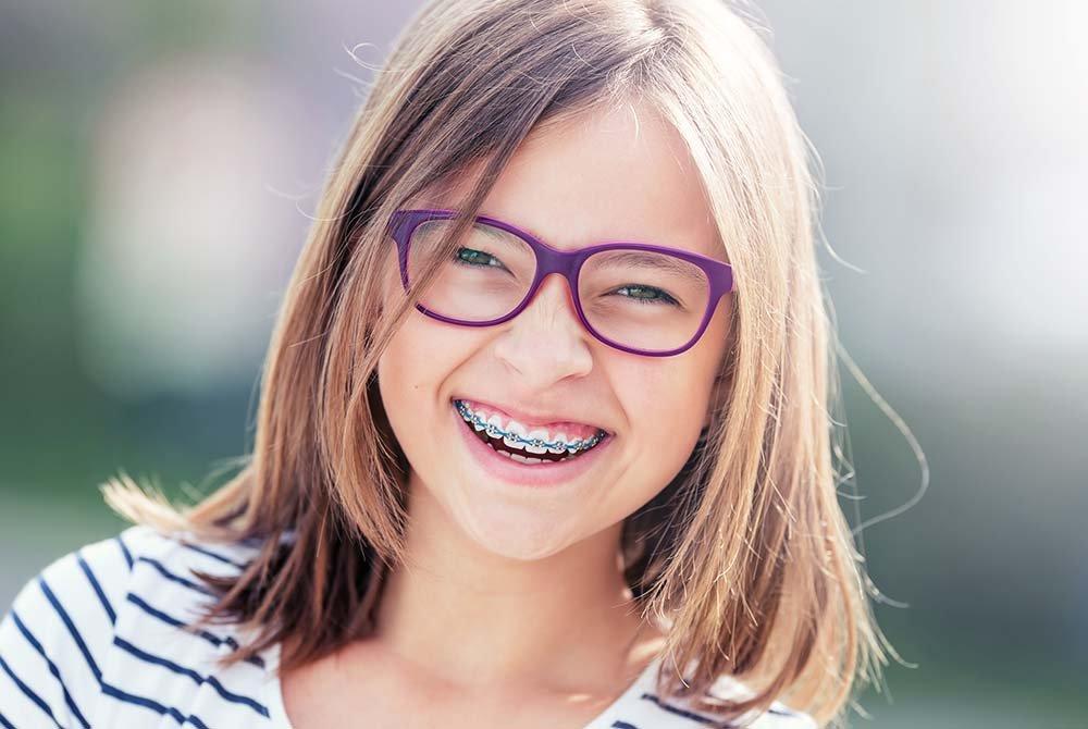 little girl in braces