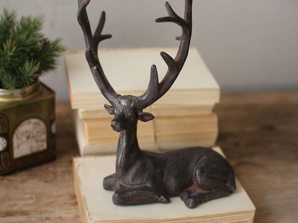 Cast iron metal deer statue