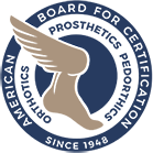 American Board for Certification in Orthotics, Prosthetics, and Pedorthics. Since 1948.