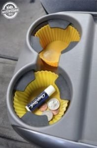 cupholder with chapsticks