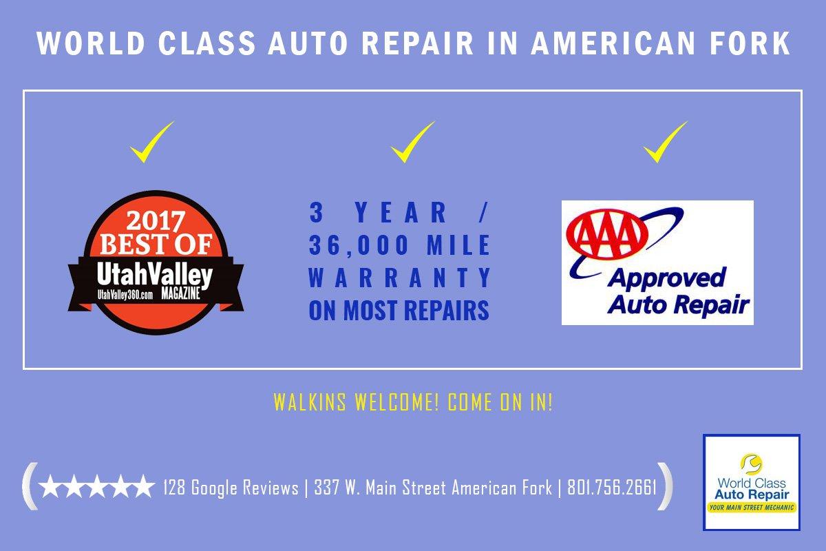 World class auto repair in american fork