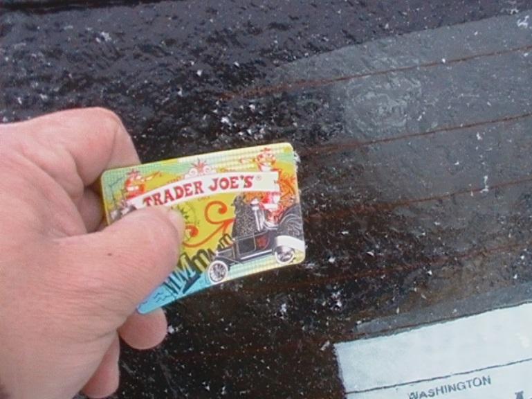 card ice scraper hack
