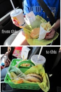 fast food in a basket