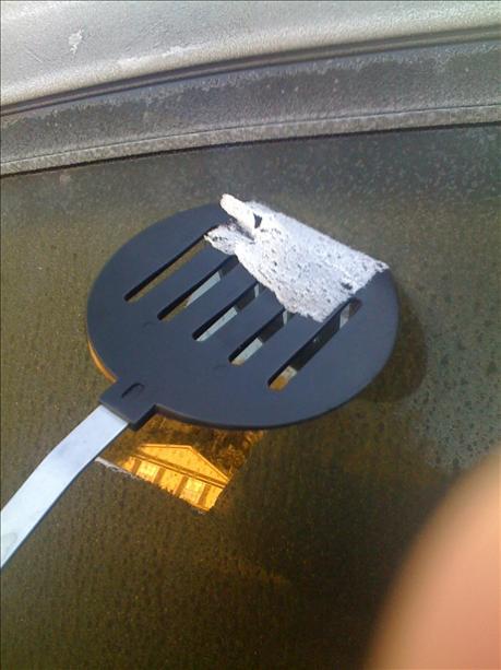 spatula ice scraper hack